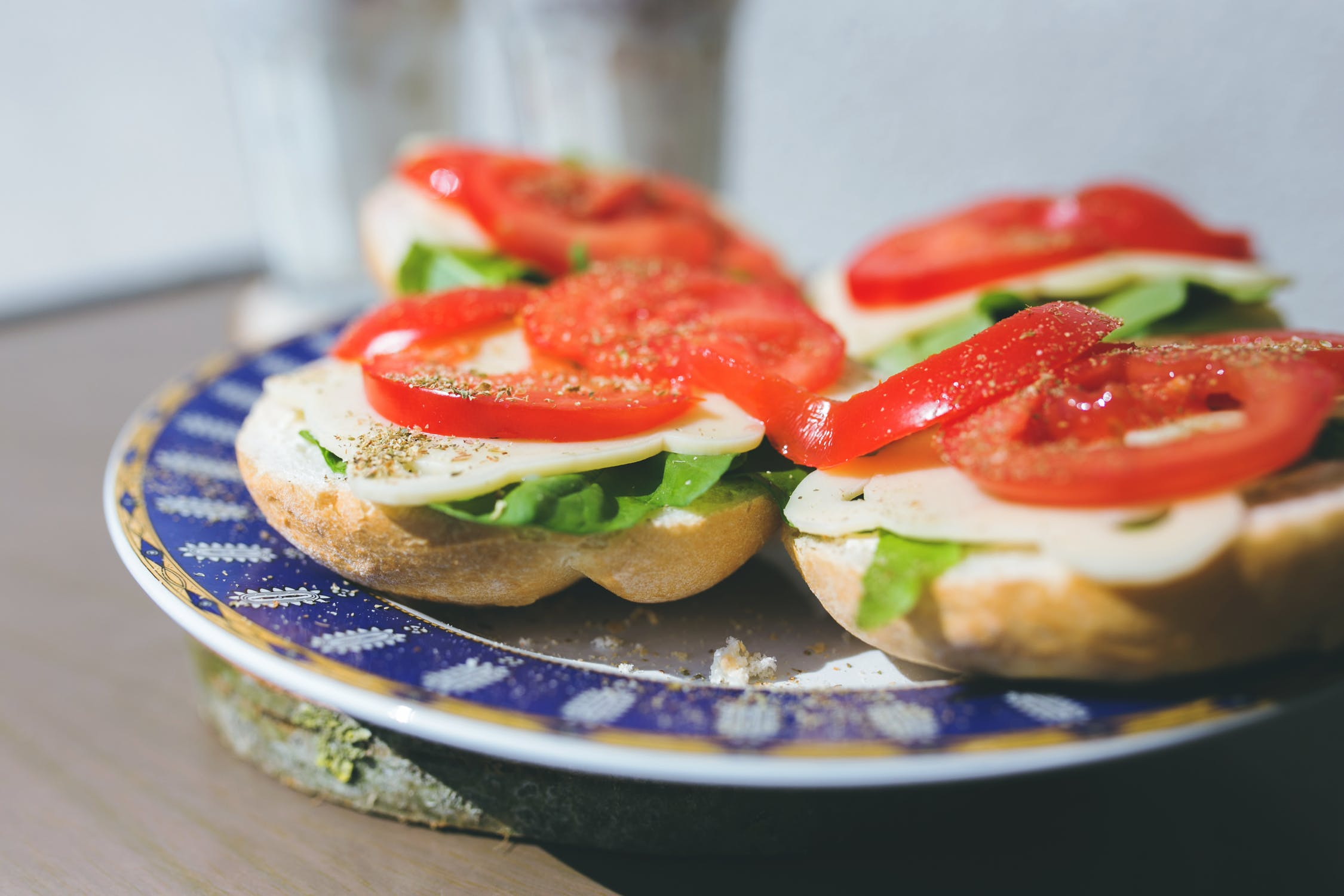 Tomato orzo soup and Veggie Delite Sandwich