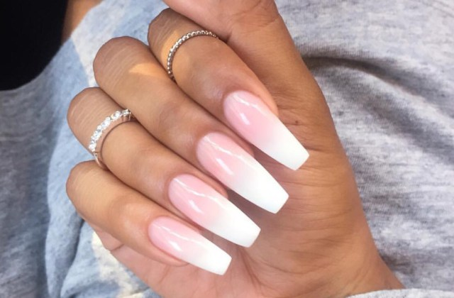 Pink Ombre Nail Design