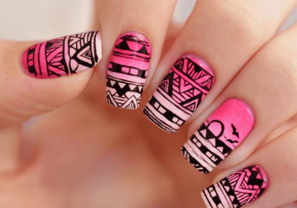 Aztec Nail Art Design