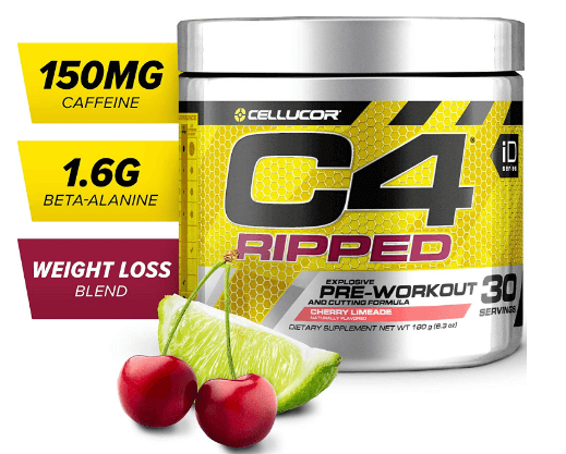 C4 Ripped Pre-Workout Supplement Powder-image