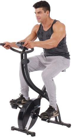PLENY Foldable Upright Stationary Exercise Bike-image
