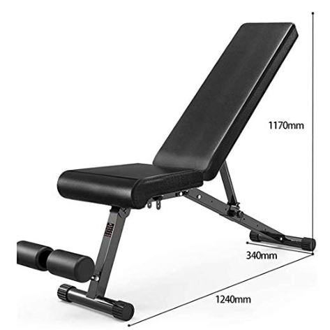 Folding Black Dumbbell Bench-image