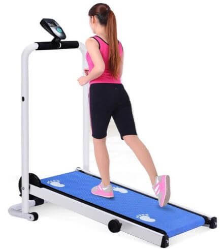 LZG Compact Folding Manual Treadmill for Home-image