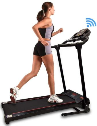 SereneLife SLFTRD18 - Smart Folding Compact Treadmill-image