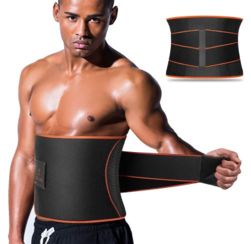VOHUKO Sauna Waist Trimmer, Wide Men Waist Trainer-image
