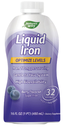 Liquid Mineral Supplement, Iron, Natural Berry, 16 Ounce-image